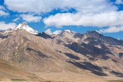 Snow cap over mountain Stock Photography