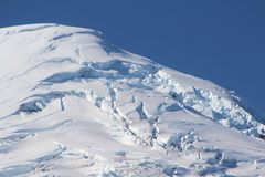 snow cap over volcano Royalty Free Stock Image