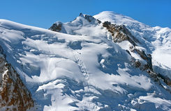 Snow cap on top of the Swiss Alps Royalty Free Stock Photo