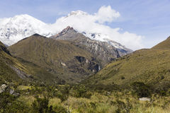 Snow caped mountains in Huascaran National Park Stock Image
