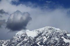 Snow-capped горы Стоковые Изображения