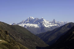 Snow-capped горы Стоковые Фотографии RF