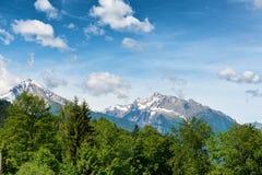 Snow-capped alpine peaks Royalty Free Stock Image