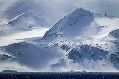 Free Snow Capped And Windblown Snow Of Elephant Island In Antarctica Royalty Free Stock Photography - 147784647
