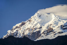 Snow capped Antisana Volcano, Royalty Free Stock Photo