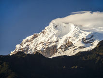 Snow capped Antisana Volcano, Stock Image