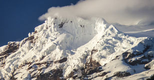 Snow capped Antisana Volcano, Royalty Free Stock Photos