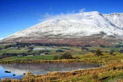 Snow Capped Blencathra Stock Photo