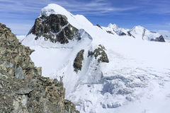 Snow capped Breithorn. The snow capped summit of Breithorn at 4,159m. Switzerland Stock Photography