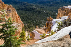 Snow Capped Bryce Canyon. Bryce Canyon after spring snowfall royalty free stock photography