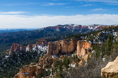 Snow Capped Bryce Canyon. Bryce Canyon after spring snowfall royalty free stock images