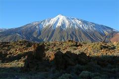 Snow-capped El Teide, Tenerife Royalty Free Stock Photo