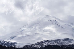 Snow capped Elbrus mountain Royalty Free Stock Image