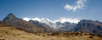 Snow capped Kanchenjunga Stock Photos