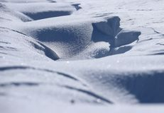 The snowy earth Stock Photography