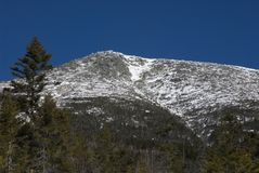 Snow Capped Maine Mountain. Snow caps the top of famous Mt. Katahdin in Maine in this wintry view Stock Images