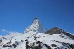 Snow capped Matterhorn Stock Photos