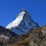 Snow capped Matterhorn Royalty Free Stock Image