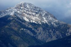 Snow-Capped Montana Mountain Peak Royalty Free Stock Images