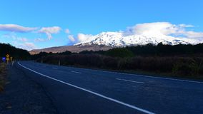 Snow-capped Mount Nagauruhoe in Tongariro National Park. In New Zealand Royalty Free Stock Photos