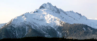 Snow capped mountain Royalty Free Stock Image