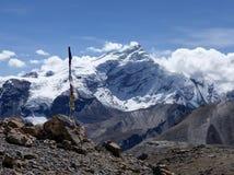 Snow capped mountain Chulu Stock Photo