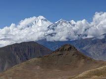 Snow capped mountain Dhaulagiri Stock Photos