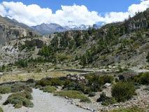 Snow capped mountain from Kali Gandaki valley, Nepal Royalty Free Stock Photography