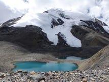 Snow capped mountain and mountains lakes Stock Photo