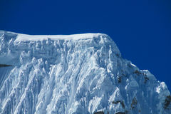 Snow capped mountain peak of Andes royalty free stock images