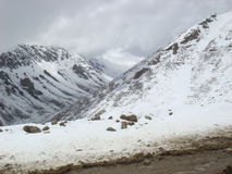 Snow capped mountain. Picture of snow capped mountain royalty free stock images