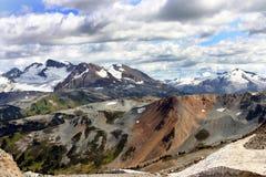 Snow capped mountain range Royalty Free Stock Image