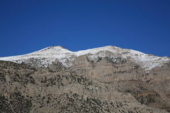 Snow Capped Mountain Range - Wyoming Royalty Free Stock Image