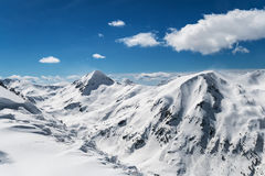 Snow Capped Mountain Valley Stock Photography