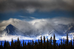 Snow Capped Mountain Views Scenic Landscape Stock Images