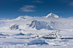 Snow-capped mountains Stock Image