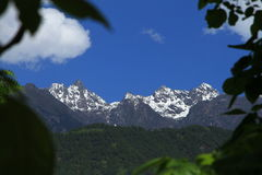 Snow-capped mountains. In sichuan of china Stock Photography