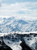 Snow capped mountains Stock Photos