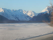 Snow capped mountains along the Haines Highway Royalty Free Stock Photography