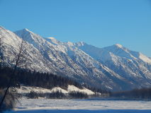 Snow capped mountains along the Haines Highway Royalty Free Stock Photos