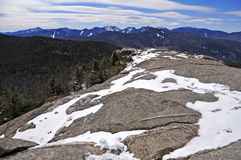 Snow capped mountains and alpine landscape in the Adirondacks, New York State Stock Photo