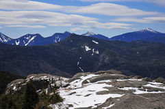 Snow capped mountains and alpine landscape in the Adirondacks, New York State Stock Photography
