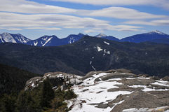 Snow capped mountains and alpine landscape in the Adirondacks, New York State Royalty Free Stock Photo