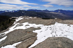 Snow capped mountains and alpine landscape in the Adirondacks, New York State. USA Royalty Free Stock Photo