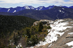 Snow capped mountains and alpine landscape in the Adirondacks, New York State Royalty Free Stock Photography