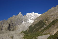 Snow capped mountains in Alps Royalty Free Stock Image