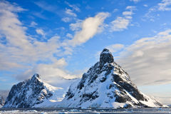 Snow-capped mountains in Antarctica Stock Images