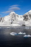Snow-capped mountains in Antarctica Royalty Free Stock Image