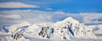 Snow-capped mountains in Antarctica Stock Photo
