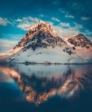 Snow-capped mountains in Antarctica Stock Photos